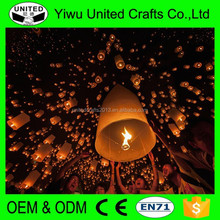 2015 New Products Big Chinese KONGMING Lanterns Fly Sky Candle Lamp Flying Wishing Paper Light