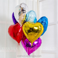 Heart shape foil balloons with self sealing