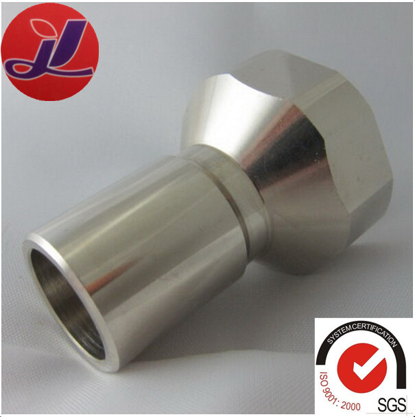 custom design cnc machined threaded tube 304 stainless steel sleeve