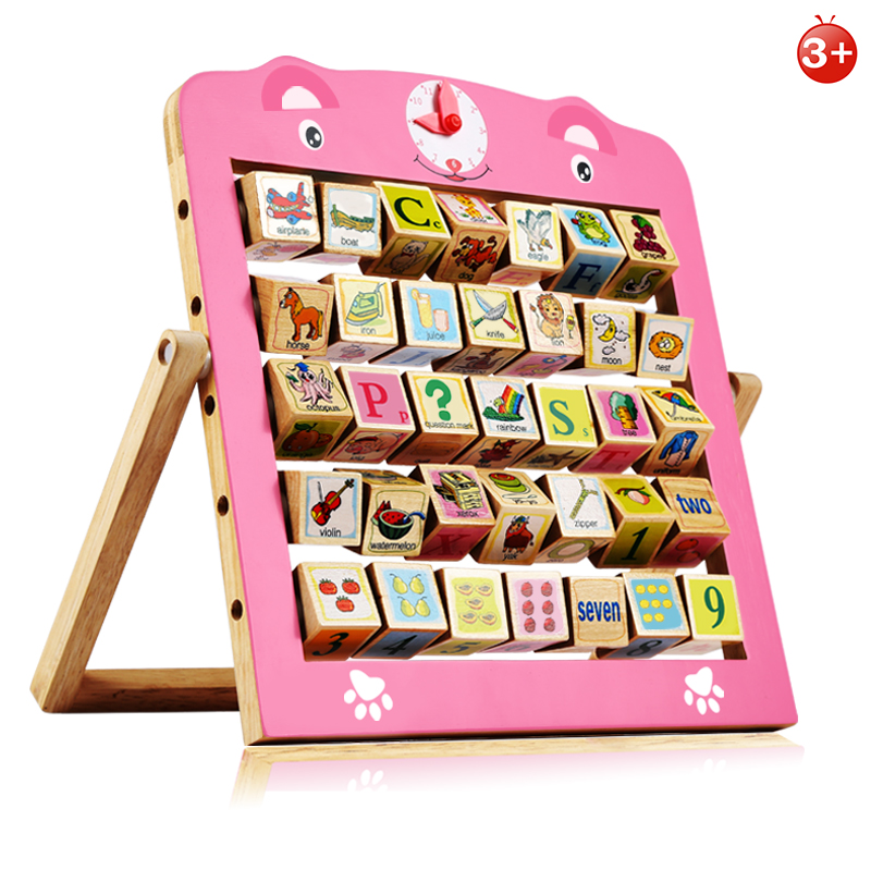 children toys new 2016 style alphanumeric and animal cognitive frame educational wooden toys