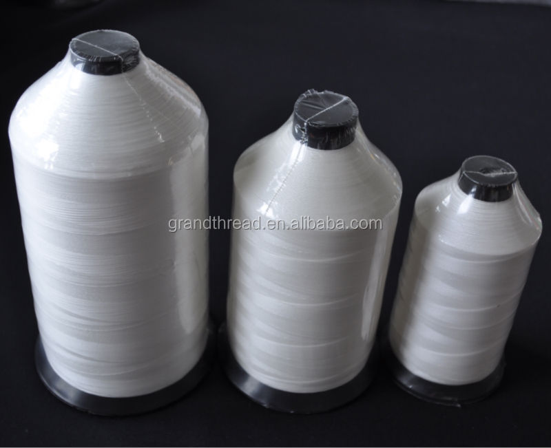 raw white nylon 6 bonded thread