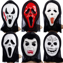 PVC <span class=keywords><strong>Film</strong></span> Crier Destination Finale <span class=keywords><strong>Horreur</strong></span> Grimace Masque Halloween Fantôme Visage Effrayant Mort Costumes Cosplay Masque