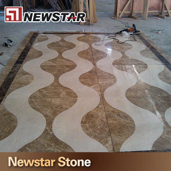 Inlaid Marble Floor Design : Inlay pattern waterjet marble flooring design buy