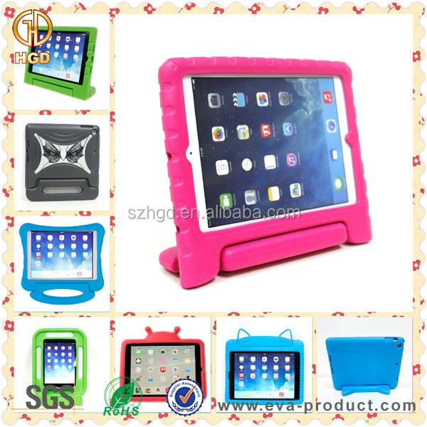 Kids Friendly EVA Foam Convertible Freestanding Handle Tablet Case for Apple iPad Mini 2 3