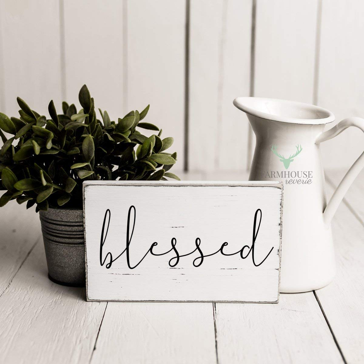 Rustic Blessed Sign | Rustic Wood Sign | Farmhouse Sign | Farmhouse Wall Decor | Rustic Home Decor | Farmhouse Home Decor | French Farmhouse Decor | Shabby Chic | Thanksgiving Decor