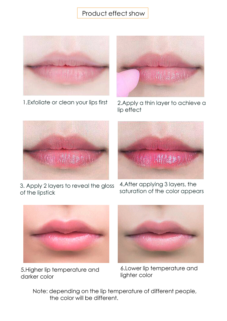private label natural hydrating lipstick color change lipstick