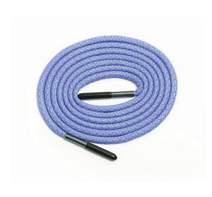 Colorful Polyester Round Rope Reflective Shoelaces For wholesale