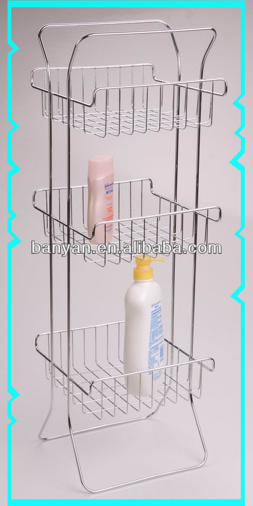 2 Tier Large Shower Caddy Bathroom Organizer Shampoo Stand Rack ...