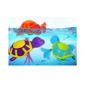 Cute Baby Bath Toy Turtle Shaped Funny Plastic Baby Toys