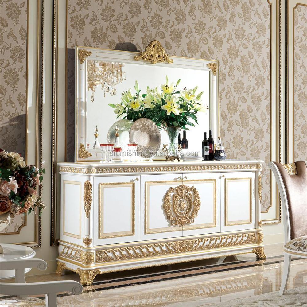 Yb62 Lusso Barocco Francese Stile Sala Da Pranzo In Vetro Credenza ...