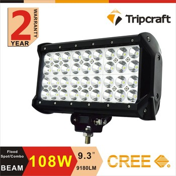 108w Led Light Bar,12 Volt Automotive Led Lights 9.3'' Offroad Led ...