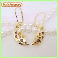 Wholesale Alloy Fashion Gemstone Gold earrings # 21990