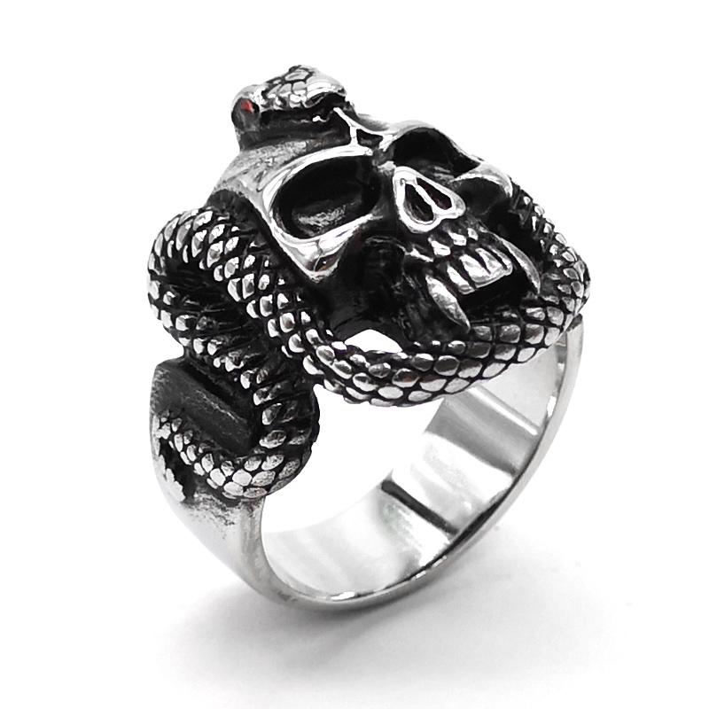 KUSTOM FACTORY Bague acier inoxydable homme Skull de la taille 10 /à 13 US