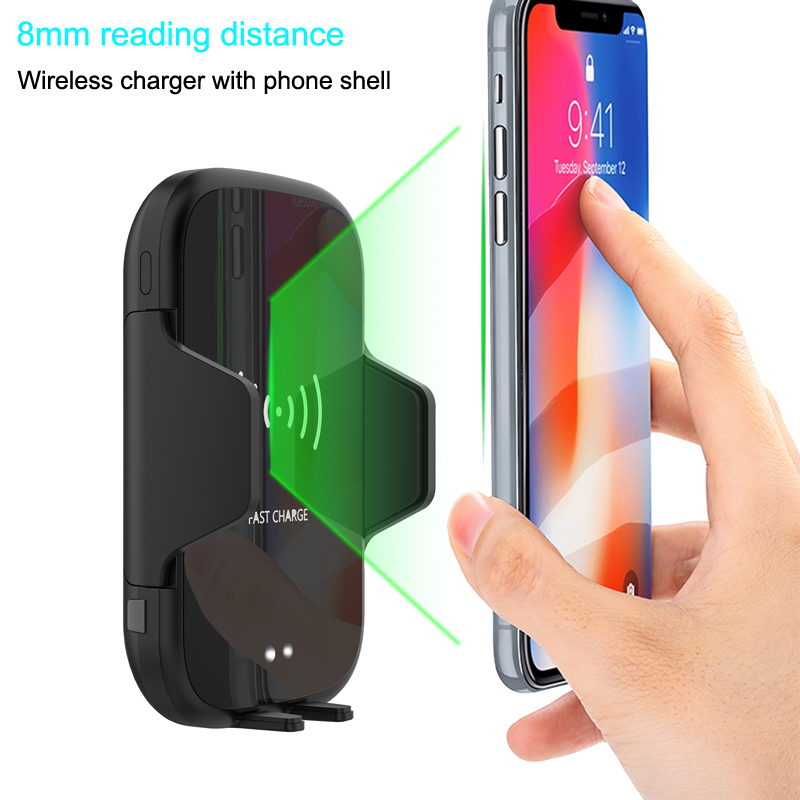 Phone Holder Automatic Air Vent Adjustable Phone Holder support charging/car phone holder with wireless charging