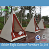 Modern outdoor furniture rattan sunbed with canopy