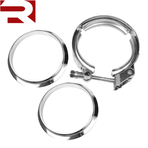 3 Inch Turbo Exhaust Down Pipe Stainless Steel V-Band Clamp with 2 Mild Steel Flange