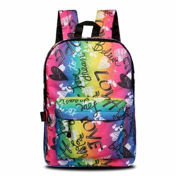 Семь стиль дизайн печати одежда обувь для девочек школьные ранцы Рюкзаки  Мода Back Packs студент 85ffac80463