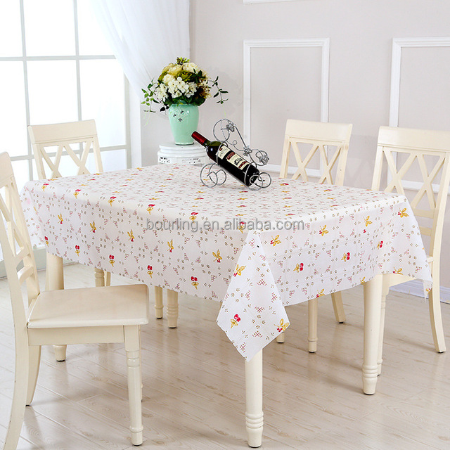 Factory Direct Sales Square Waterproof And Oilproof EVA Material Coffee Table  Cloth Modern Minimalist Tablecloth