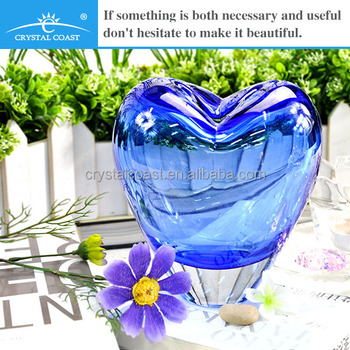 Wholesale Decorative Hand Blown Murano Large Red Heart Shaped Vases