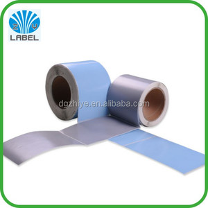 Heat sensitive labels with adhesive direct thermal paper , polyester labels