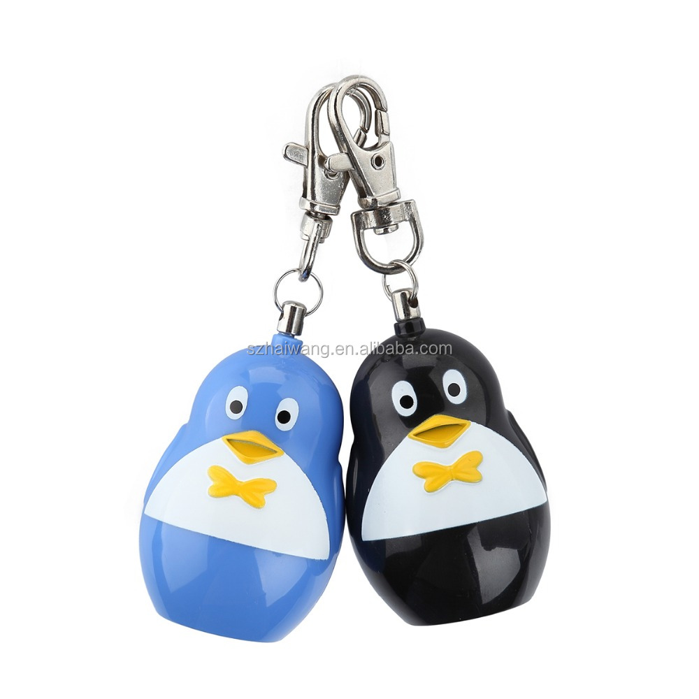 Penguin-Shaped Personal Alarm With Slapping Tail Alarm Activation