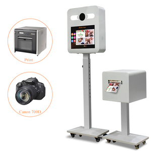 Kisonli New Selfie Photo Booth With Social Media software,Camera and Printer for Sale