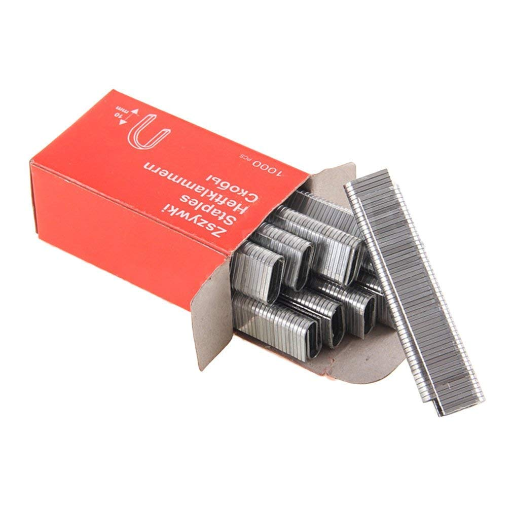 1000Pcs U-Shaped Staples 1.2MM Thick Rustproof Nails For Hand Staple Gun