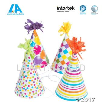 Custom Happy Birthday Party Hats Made By Paper - Buy Party Hats ... 9a00ed5ca87