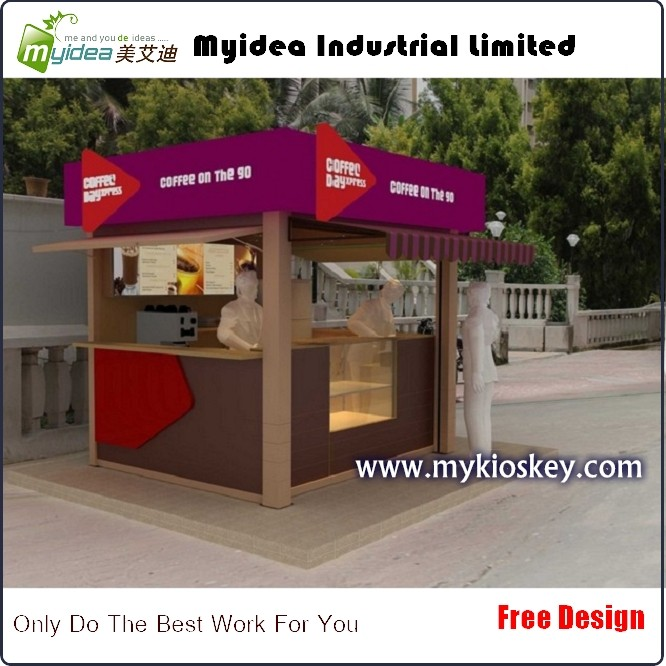 Outdoor street vending juice bar coffee bubble tea kiosk for Garden kiosk designs