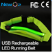 Chinese factory hot selling with colorful flash light LED running belt waist pack