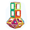 Magnetic Building Blocks Educational Toys Magnet Tiles Set Stacking Blocks for Toddler Kids