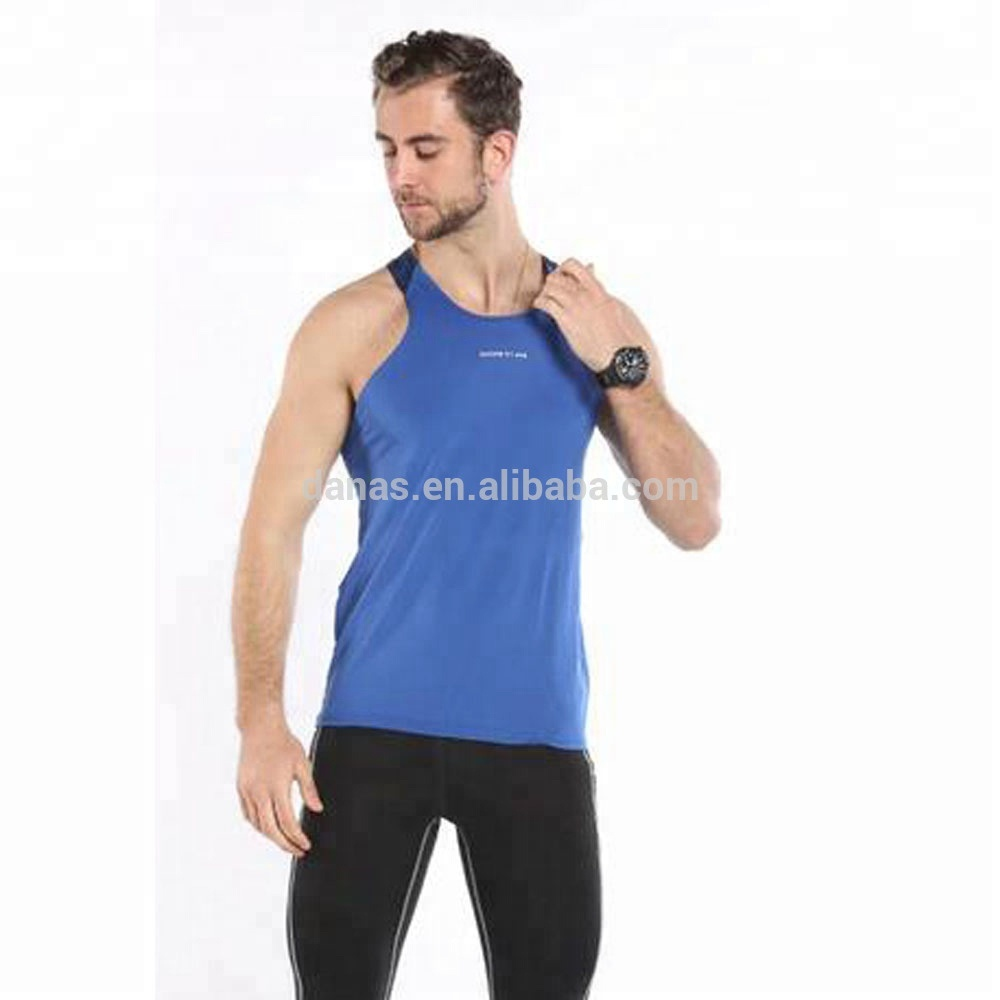 2018 Hot koop mouwloze tank top mens plain fitness custom gym vest