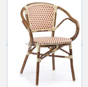 OTA-5014,Aluminum Bamboo Garden Rattan French Metal Cafe Chair