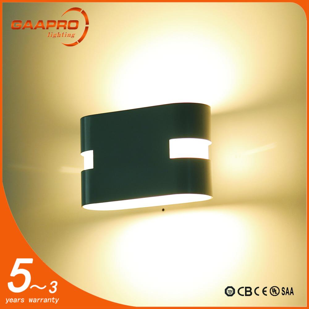 w de aluminio de alta calidad blanconegro lmpara de pared llevada de interior