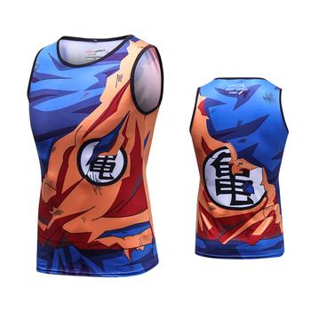 2b946b62e2 Newest Anime Dragon Ball Z Super Saiyan Tank Tops Goku/Vegeta 3D Vest Shirt  for