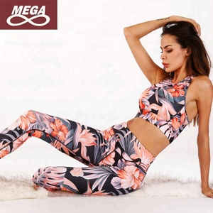 Yoga Capris Suit Gym Running Active Wear Sports Set Organic Yoga Clothing