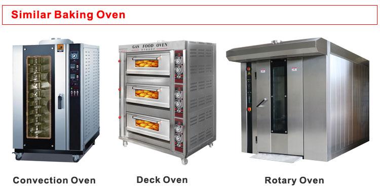 Bäckerei-Ausstattung XZL-32RQ 32 Tabletts Gas-Drehrohrofen mit Olympia Gasbrenner mit Edelstahl-Backrost