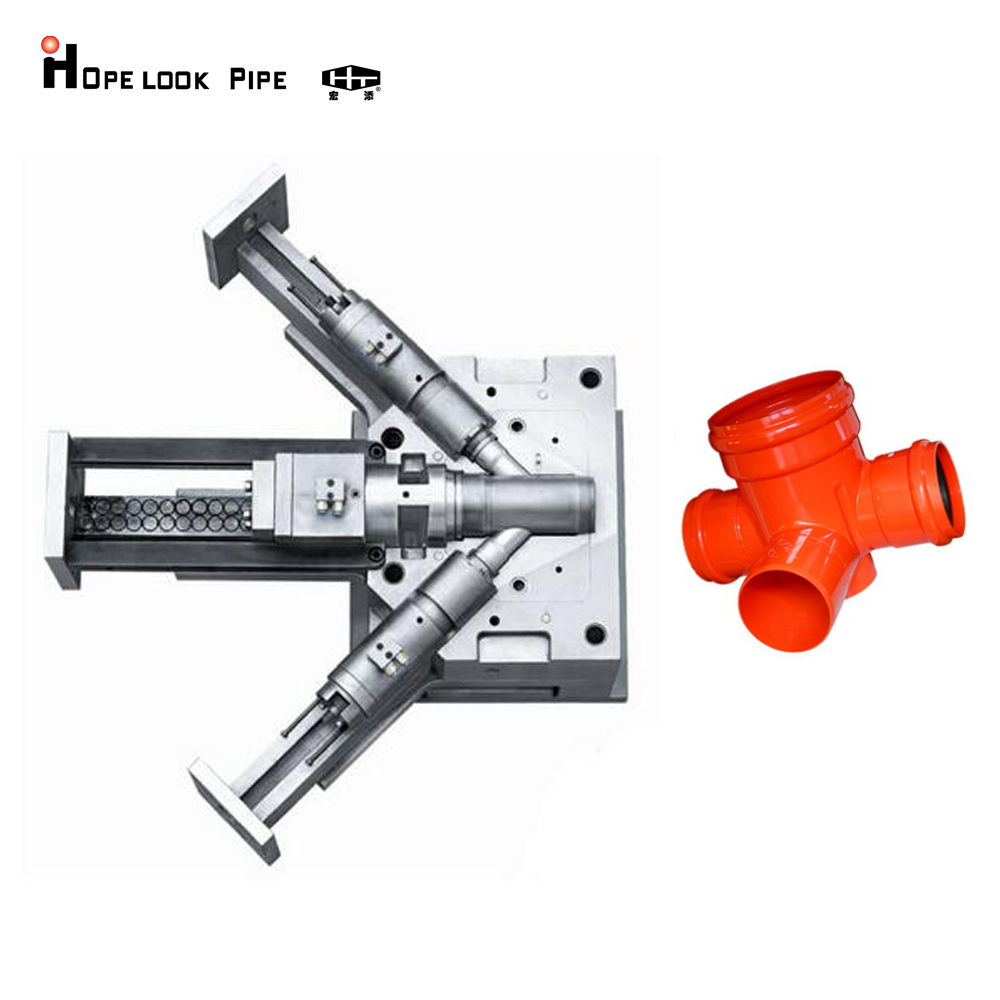 core and cavity steel use DIN 1.2728 mold plastic <strong>injection</strong> for pipe fitting