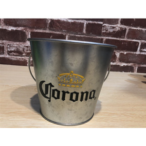 China suppliers galvanized metal steel bar ice bucket for home party supermarket hotsale Corona Extra beer beverage bucket