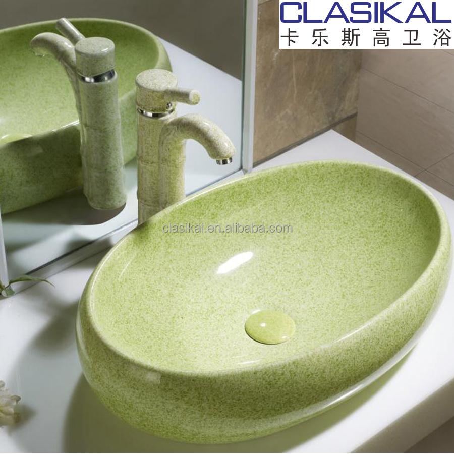clasikal famosa marca por encima de la encimera de color barato lavabo