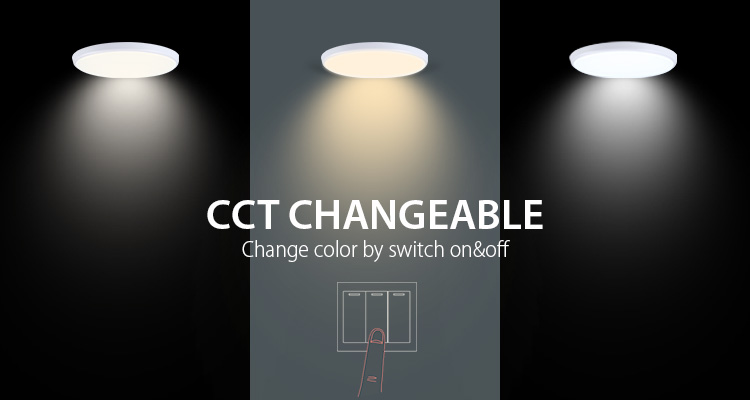 Warm White CCT Changing SMD 28W LED Ceiling Lights Fixtures