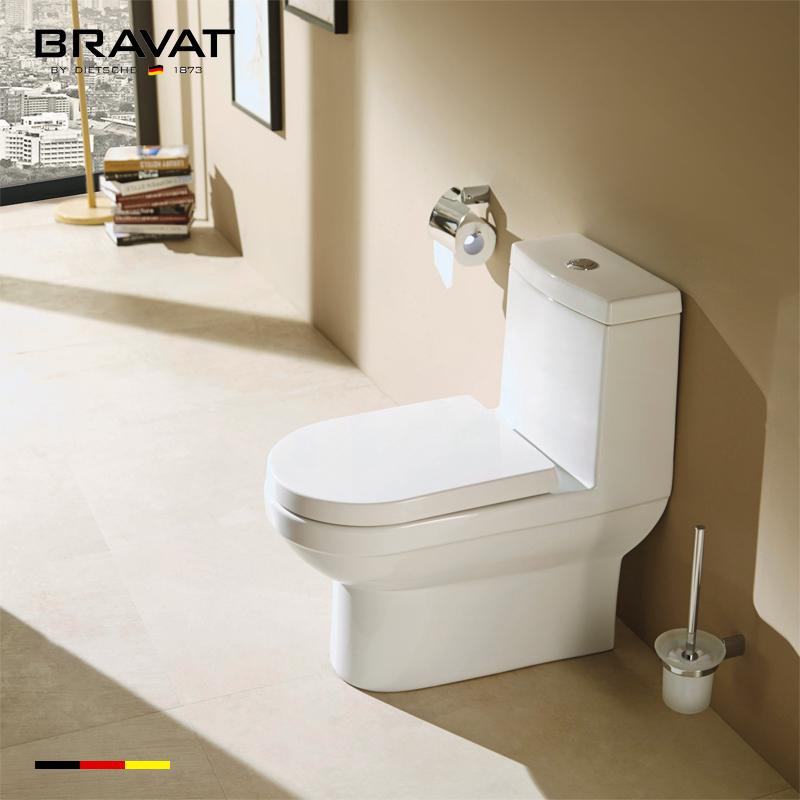 Ceramic Sanitary Bathroom Watermark Round Bowl Wc One Piece Toilet