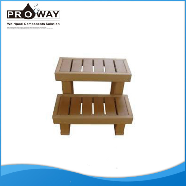 Spa Parts PS Plastic Material Movable Spa Surrounds Foot Step Plastic Stairs Step