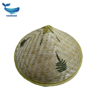 813b87bda14 BYYW0001 HAOXUAN Wholesale India coolie straw hat cheap 100% bamboo unisex  sun straw hat for