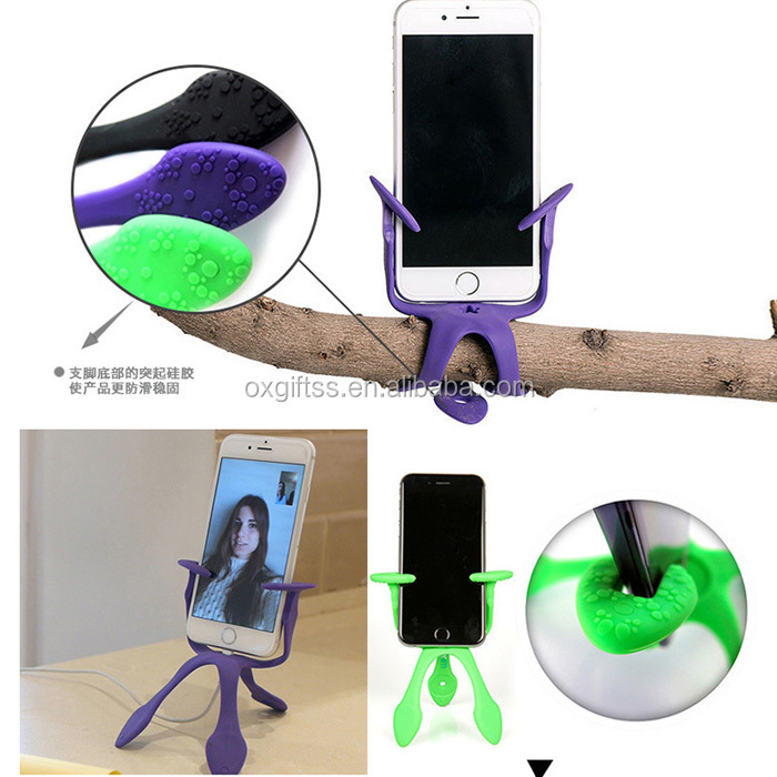 OXGIFT Made in China Alibaba wholesale Manufacture Amazon Gecko shape Multifunction Mobile Phone Stand