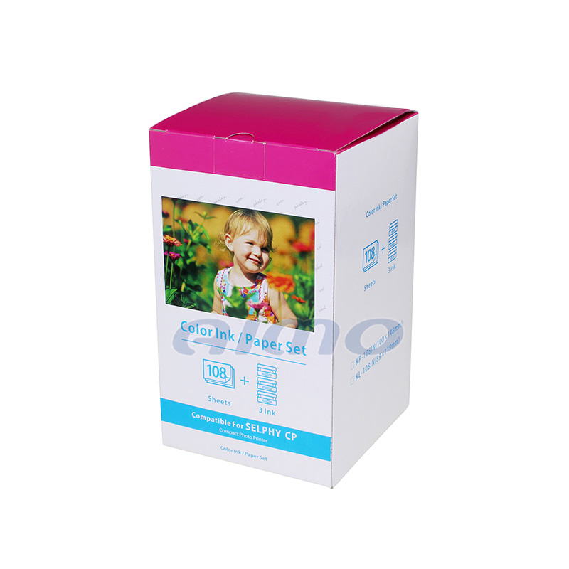 Good Quality Compatible Kp108in For Canon Selphy Printer 1300 Photo Paper  Cp1300 Ribbon - Buy Selphy Printer 1300 Photo Paper,Cp1300 Ribbon,Kp108 For
