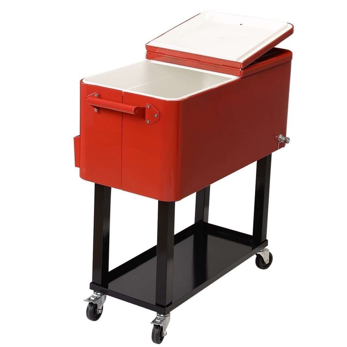 Superieur Get Quotations · Home Patio Deck Cooler Rolling Outdoor 80 Quart Solid  Steel Construction Party .sell#(