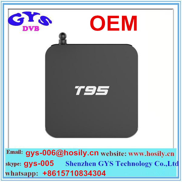 Factory supply android box 2016 new arrival Model T95 Amlogic S905 Quad Core 4k cheapest android tv box
