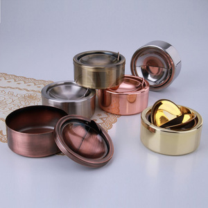 Round Shape Stainless Steel Portable Ashtray stainless steel ashtray bin