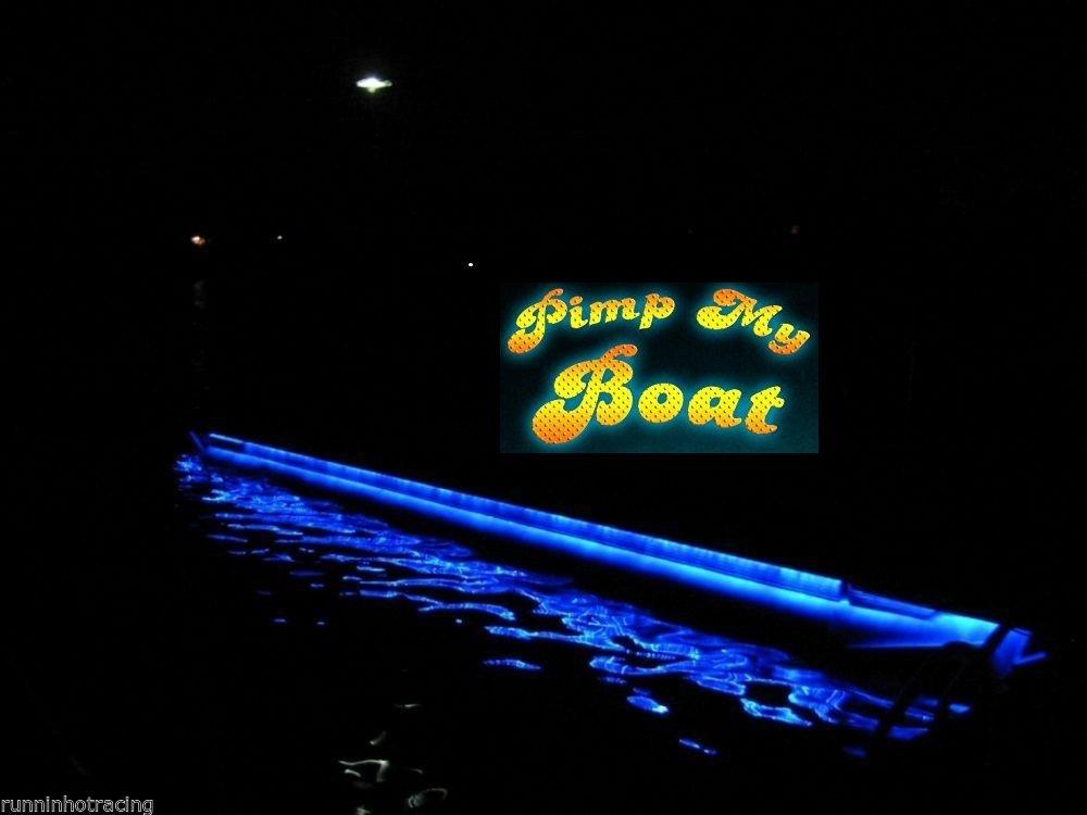 Pimp My Pontoon BLUE LED Boat Deck Lighting Kit with bonus Red & Green Navigation lights DIY Pontoon Under Deck Lighting kit for Pontoon Boats of all Sizes by Green Blob Outdoors